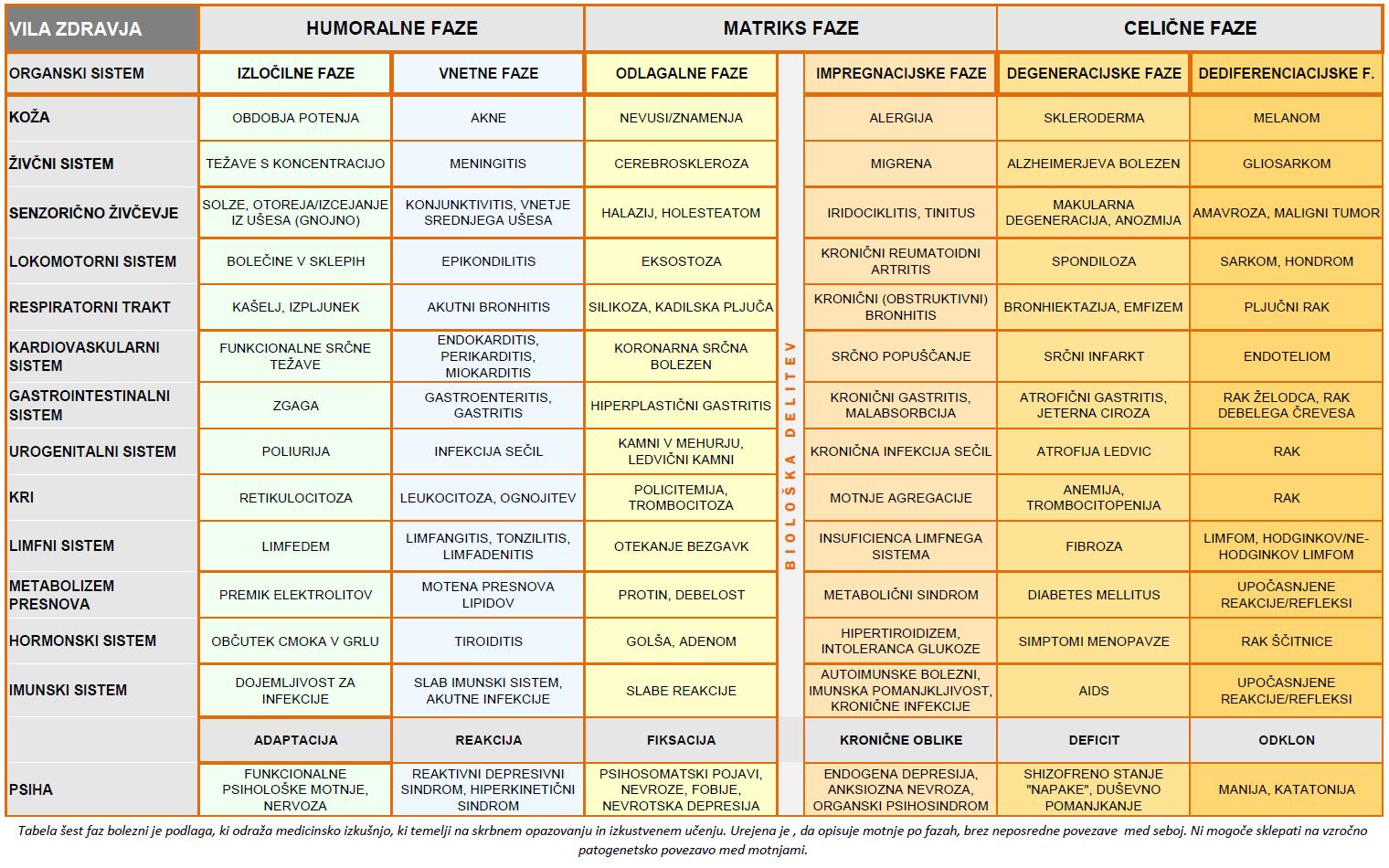Šest faz bolezni - Vila zdravja II