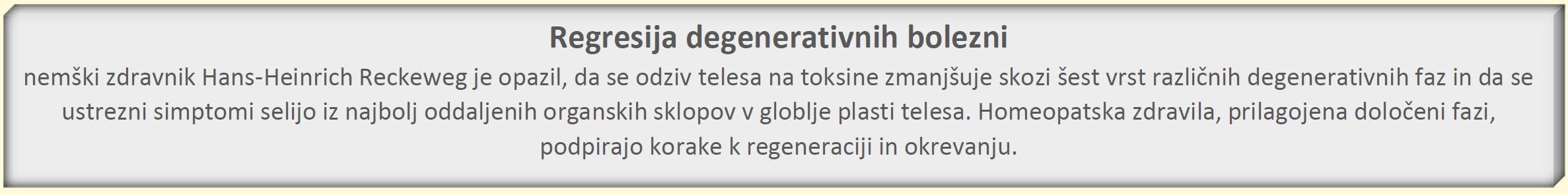 Regresija degenerativnih bolezni - NASLOV TABELE III